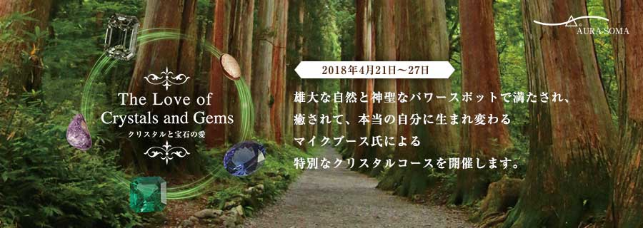 クリスタルと宝石の愛withマイクブース